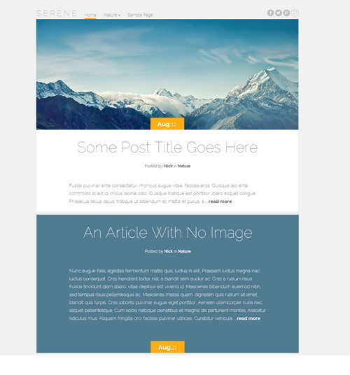 Serene - современный стильный шаблон для WordPress