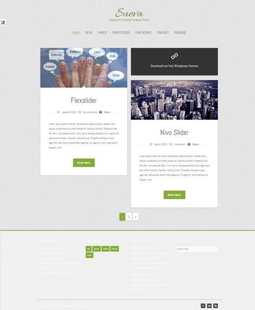 Sueva - современный шаблон для WordPress
