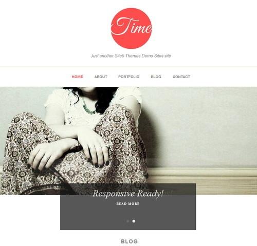 Time - адаптивный шаблон для персонального блога