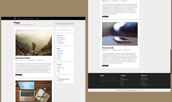 Blogger - минималистический шаблон для персонального блога