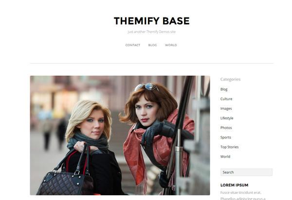 Themify Base - минималистический шаблон блога на WordPress